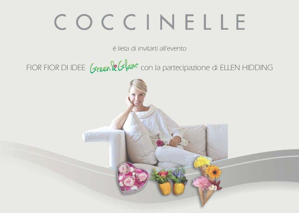 FIOR FIORE D'IDEE con ELLEN HIDDING – COCCINELLE STORE – CAGLIARI – MARTEDI 20 MAGGIO 2014