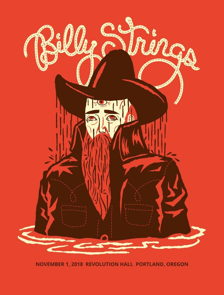 Billy strings poster in 2020 rock band posters artist