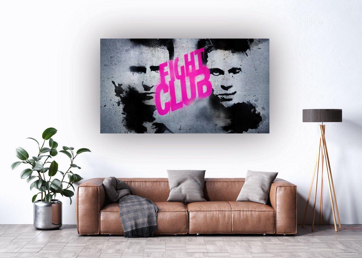 Fight Club Movie Canvas Wall Art Etsy Canvas Wall Art Etsy Wall Art Wall Art