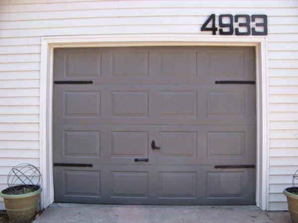 5 Diy Garage Door Update Faux Hinges Using Paint Stir Sticks The Sunset Lane