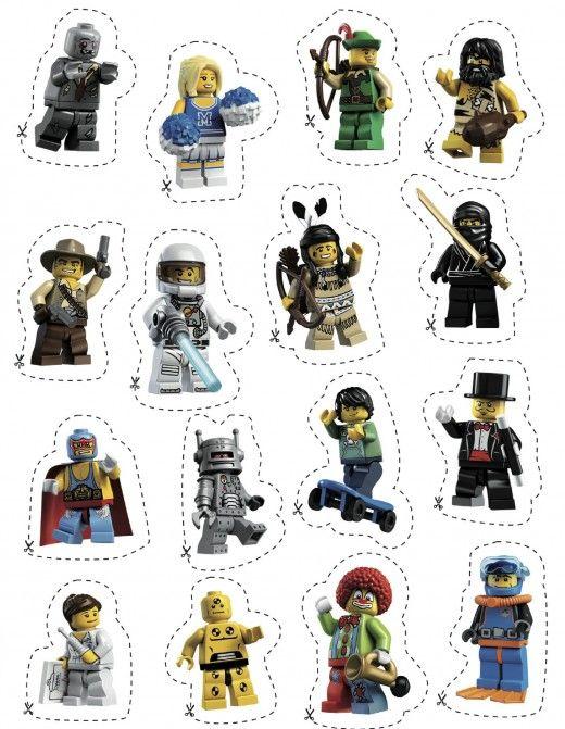 lego mini fig stickers - Szukaj w Google   urodziny LEGO   Pinterest ...