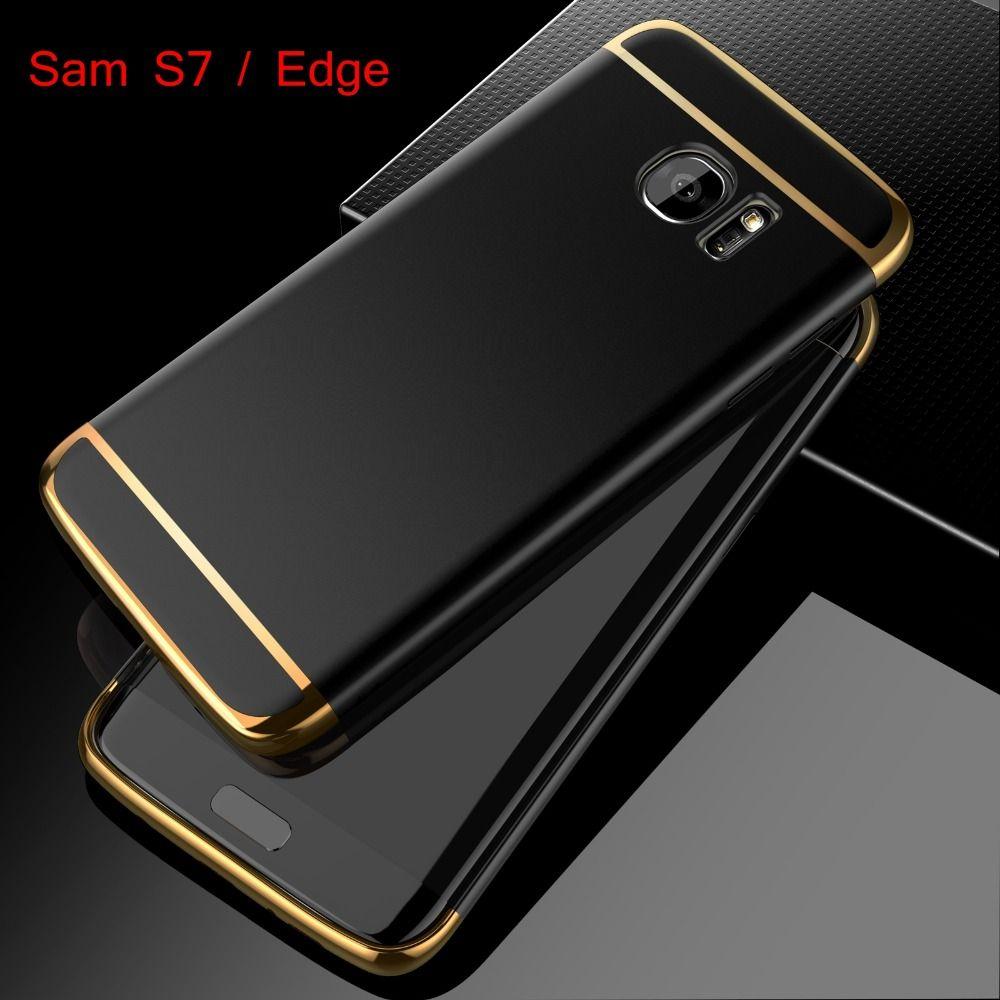대한 samsung galaxy s7 edge case 패션 3in1 하드 pc 울트라 슬림 커버 대한 apple iphone 6 6s 7 플러스 5 5 초 se 럭셔리 전화 케이스