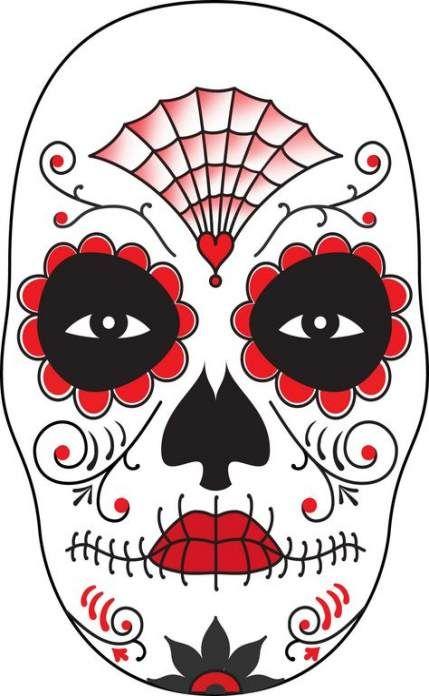 Makeup Dia Skull Design 30 Ideas -   10 makeup Dia beautiful ideas