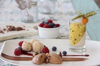 dessertvariation vom schokomousse kokos grie kn del und. Black Bedroom Furniture Sets. Home Design Ideas