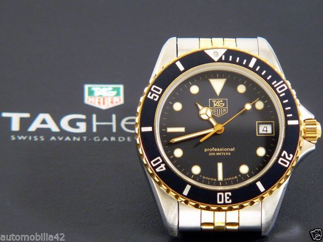Details about TAG Heuer 1000 Submariner Man Twotone 18K ...