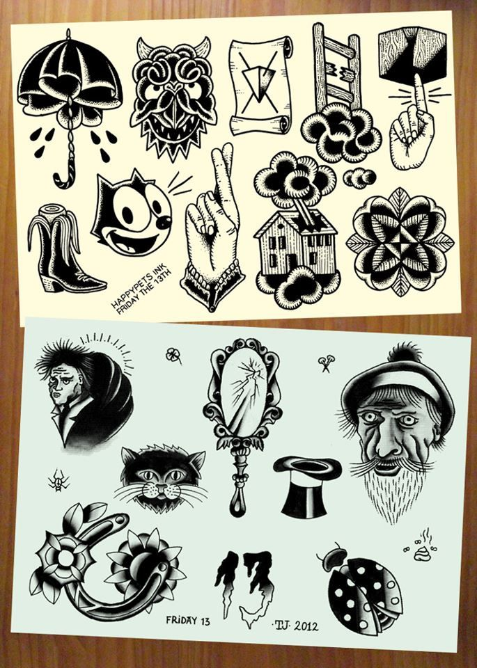 EVENTS HAPPYPETS INK: Friday the 13th tattoo flash