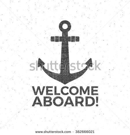 Nautical Design Sailor Vector Emblem Anchor Label And Print
