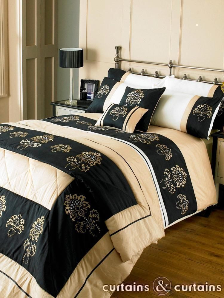 Red Black And Gold Bedding | Majestic Black U0026 Gold Duvet Cover Set    Bedding UK