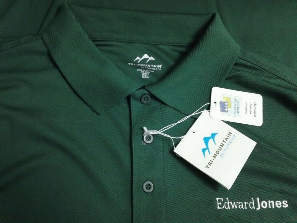 Nwt Men S 2xl Xxl Edward Jones Investments Golf Polo Green Wicking S S Shirt Fashion Clothing Shoes Accesso Polo Shirt Men Casual Mens Outfits Golf Shirts