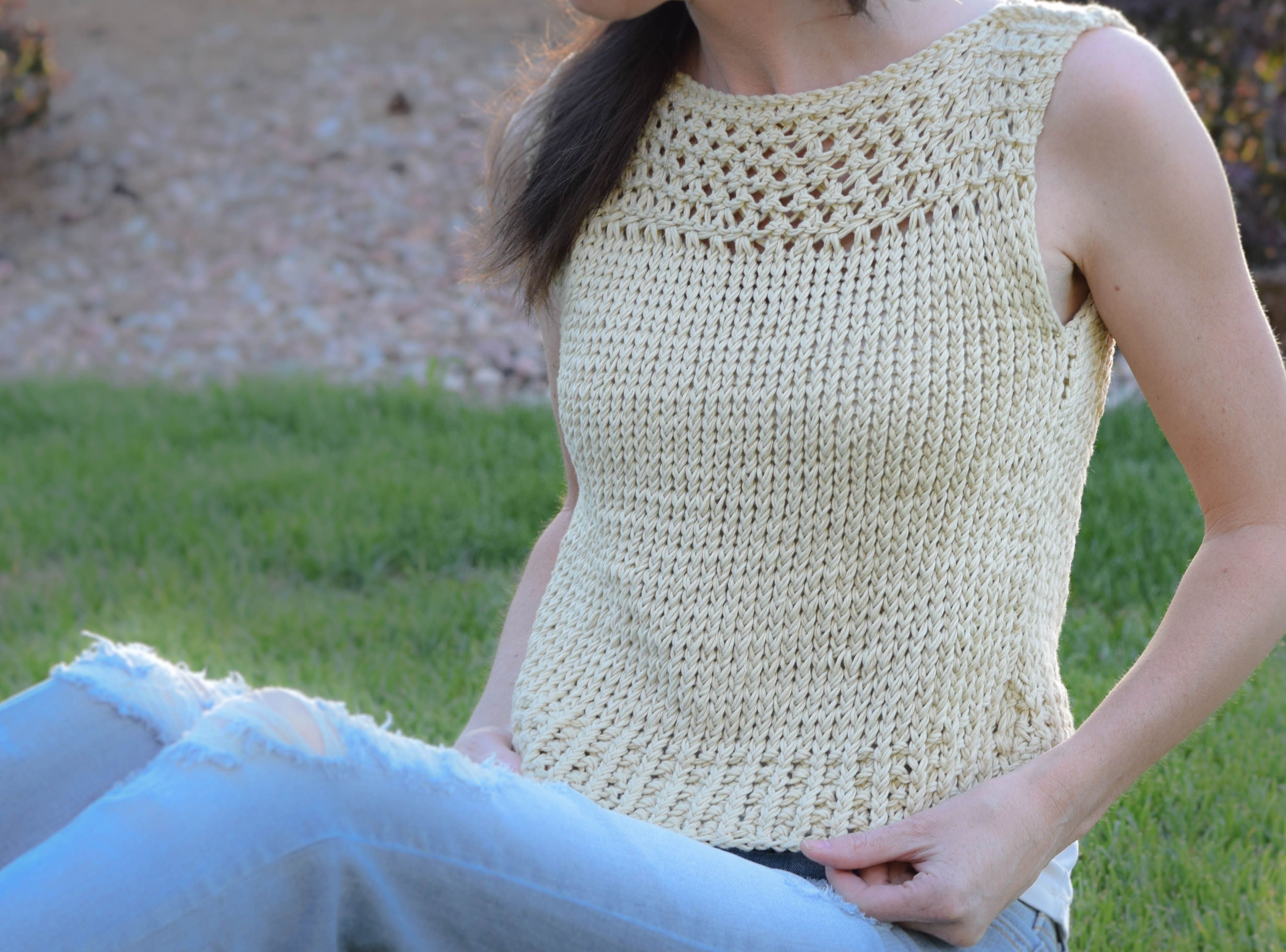 Summer Vacation Knit Top Pattern | Pinterest | Stricken