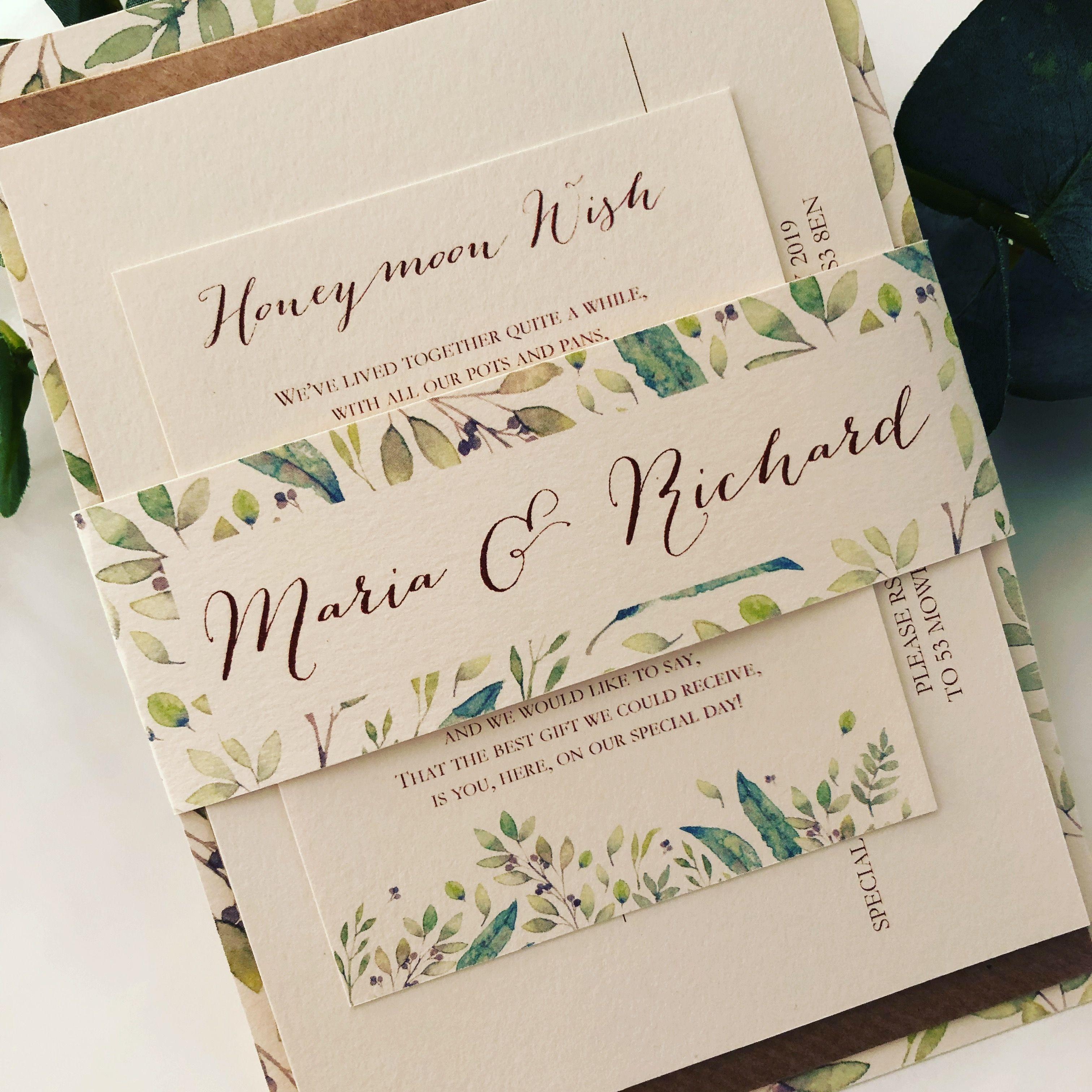 Maria Italian Style Wedding Invitation Rsvp Card Wish Card Name