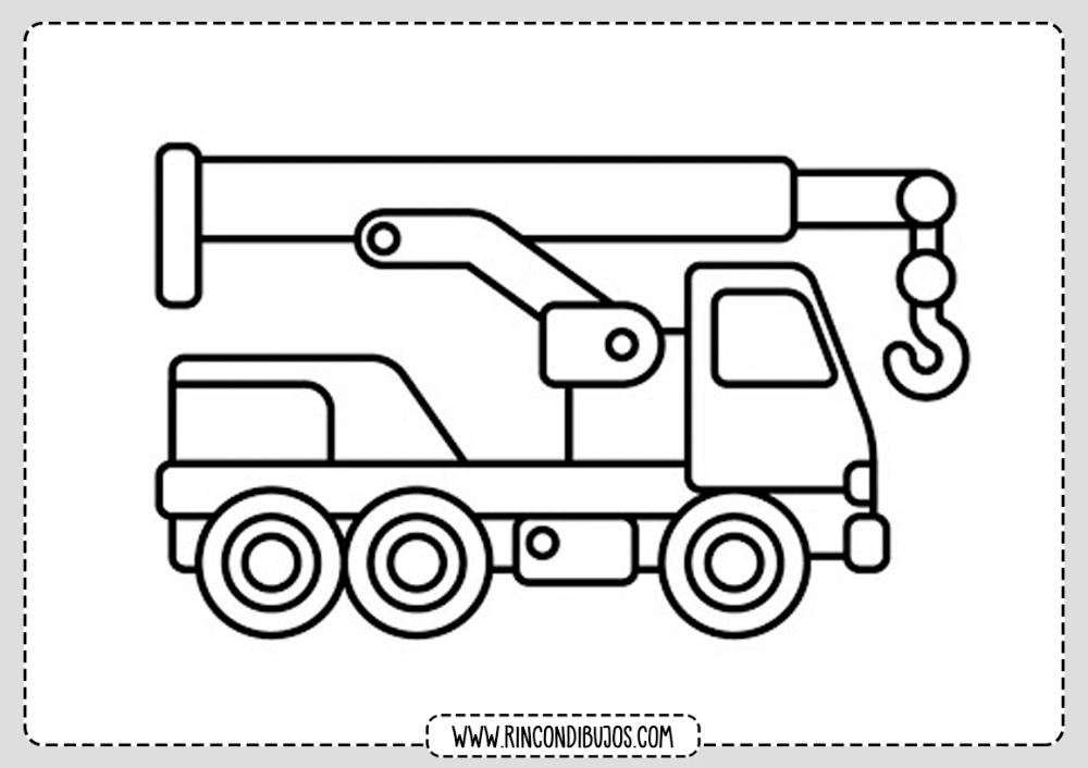 Faciles Dibujos De Camiones Para Pintar Rincon Dibujos Camion Dibujo Camiones Dibujos