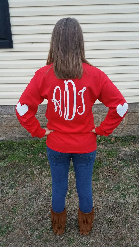 09c2650275 Valentine's Day Long Sleeve Monogrammed Tee Shirt by ShoppeSaShea ...