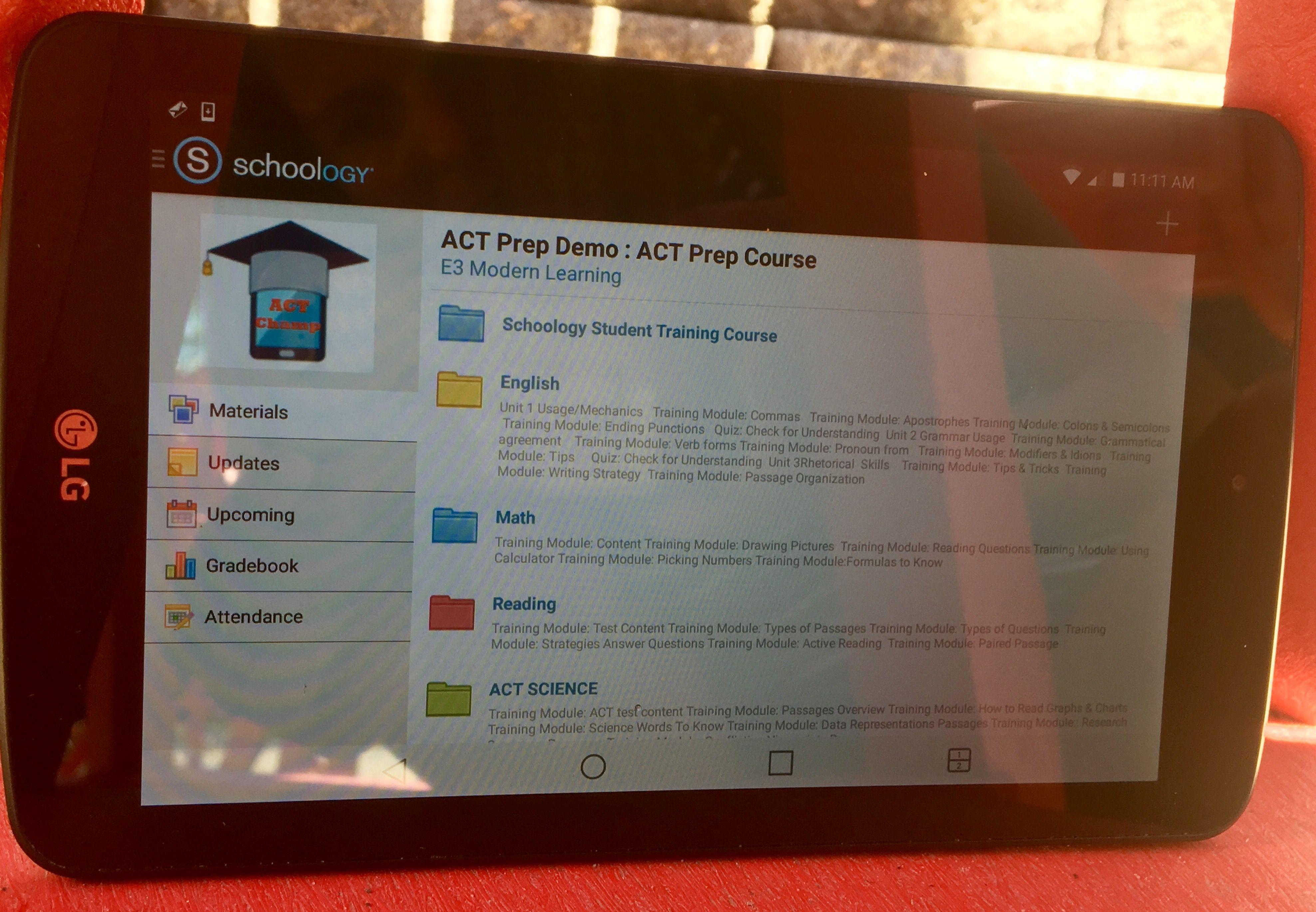 Online #ACT test prep using schoology. | Study Math Online ...