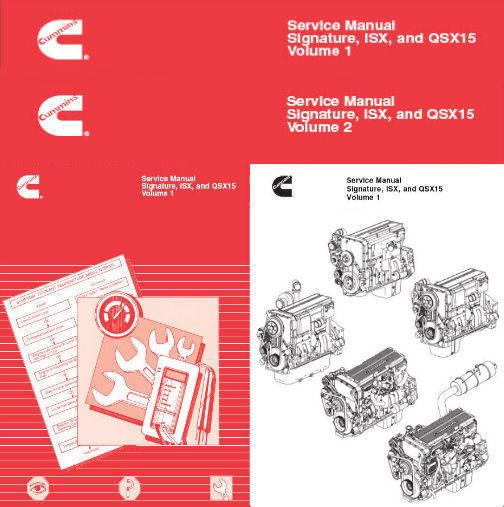 cummins signature isx and qsx15 shop service manual engine repair