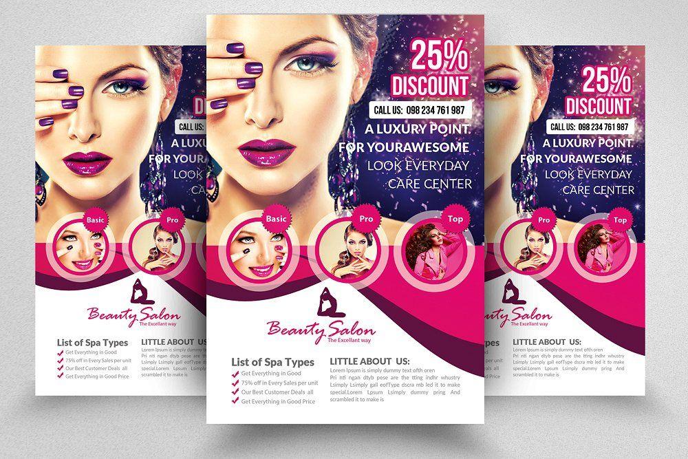 10 Beauty Salon Flyer Bundle Free Beauty Products Free Brochure Template Beauty Salon