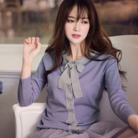 2015 nova arrivel Tricotado malha Cardigan mulher da camisola primavera outono de mangas compridas com arco Feminino Cardigan Feminino Outwear em Cardigãs de Roupas e Acessórios Femininos no AliExpress.com | Alibaba Group