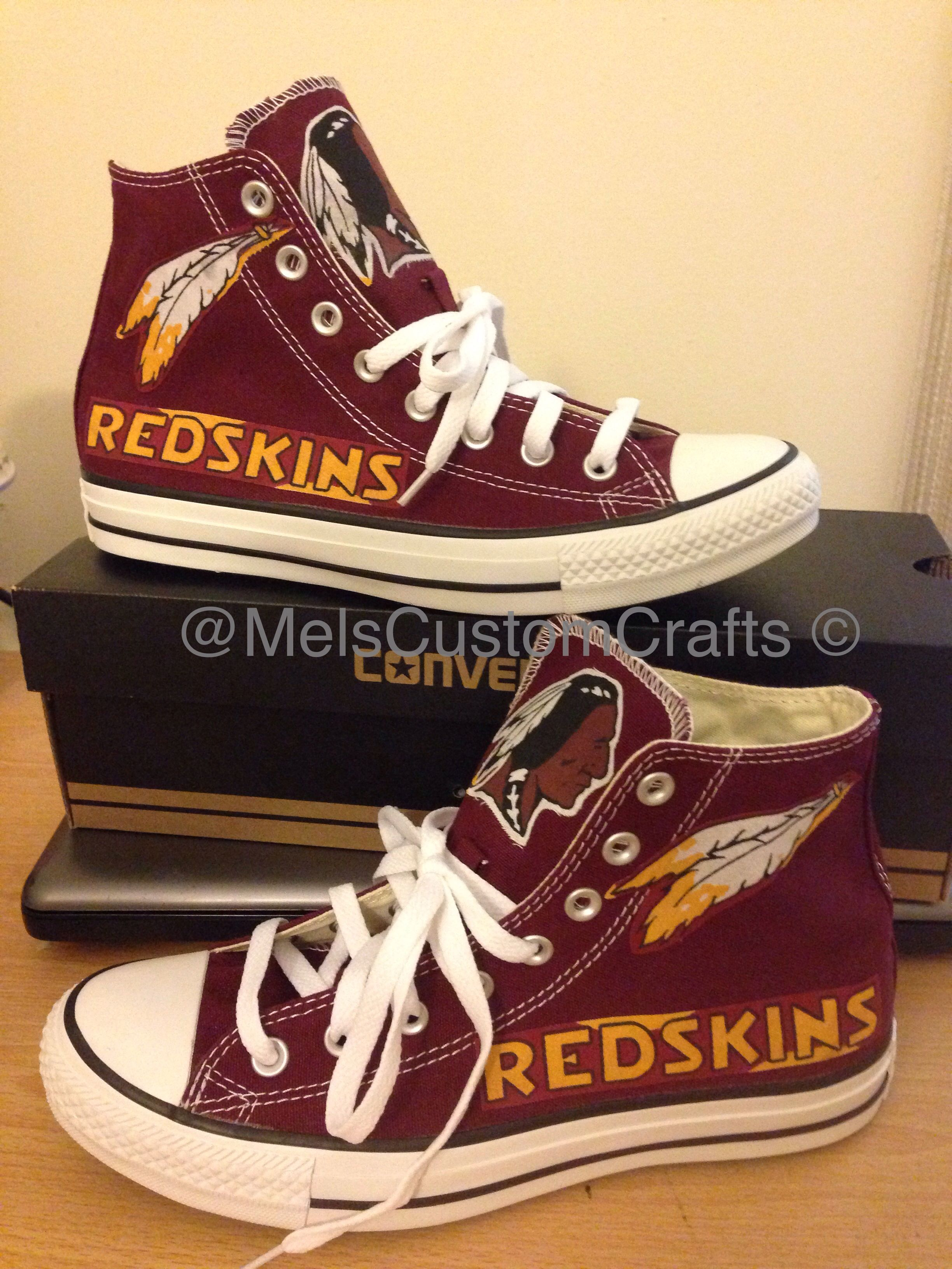 new product cf230 bba14 Burgundy custom converse. Redskin football inspired made by ...