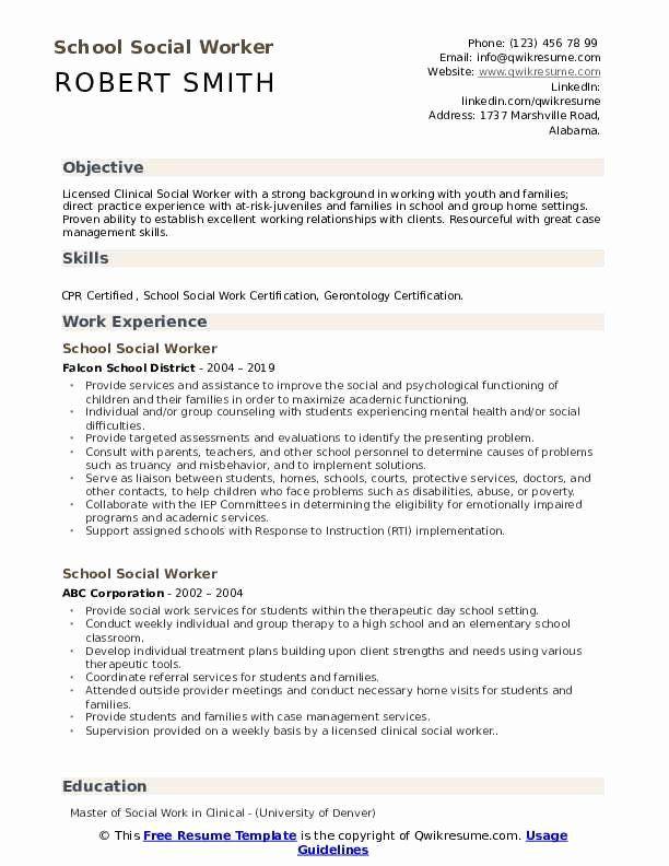 Social Work Skills For Resume Printable Resume Template In 2020 Resume Examples Professional Resume Samples Video Resume