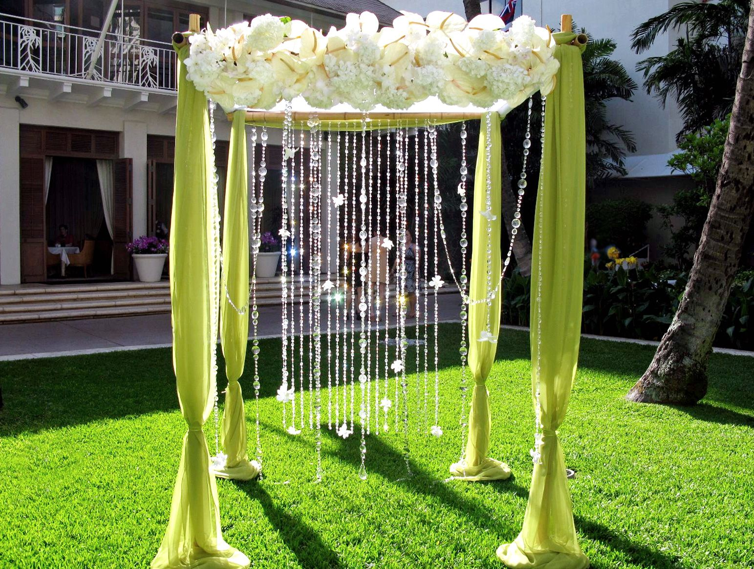 5 tips to decorate your outdoor wedding arch bamboo wedding arch decoration junglespirit Choice Image