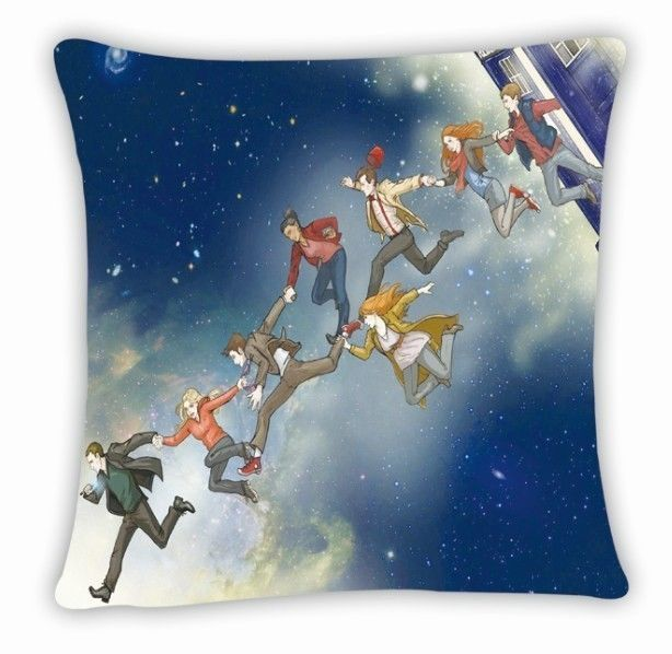 Dr Doctor Who Tardis 11 Doctores Throw Pillow Cushion Case Cover Bed