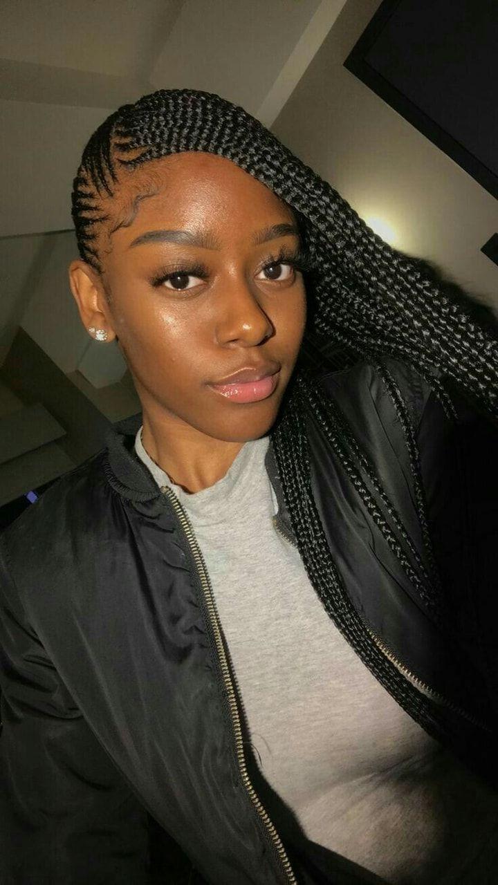 African Hair Braiding  lemonade braid ideas on black ...