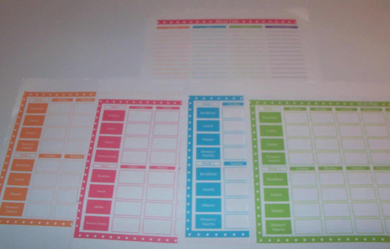 Printable Rotating Menu Planner: Plan Once, Eat All Year Excel File ...