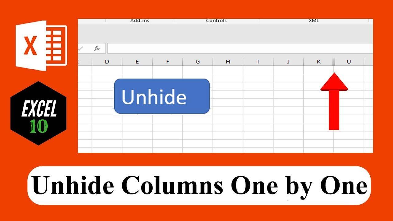 How To Create A Button To Unhide Hidden Columns