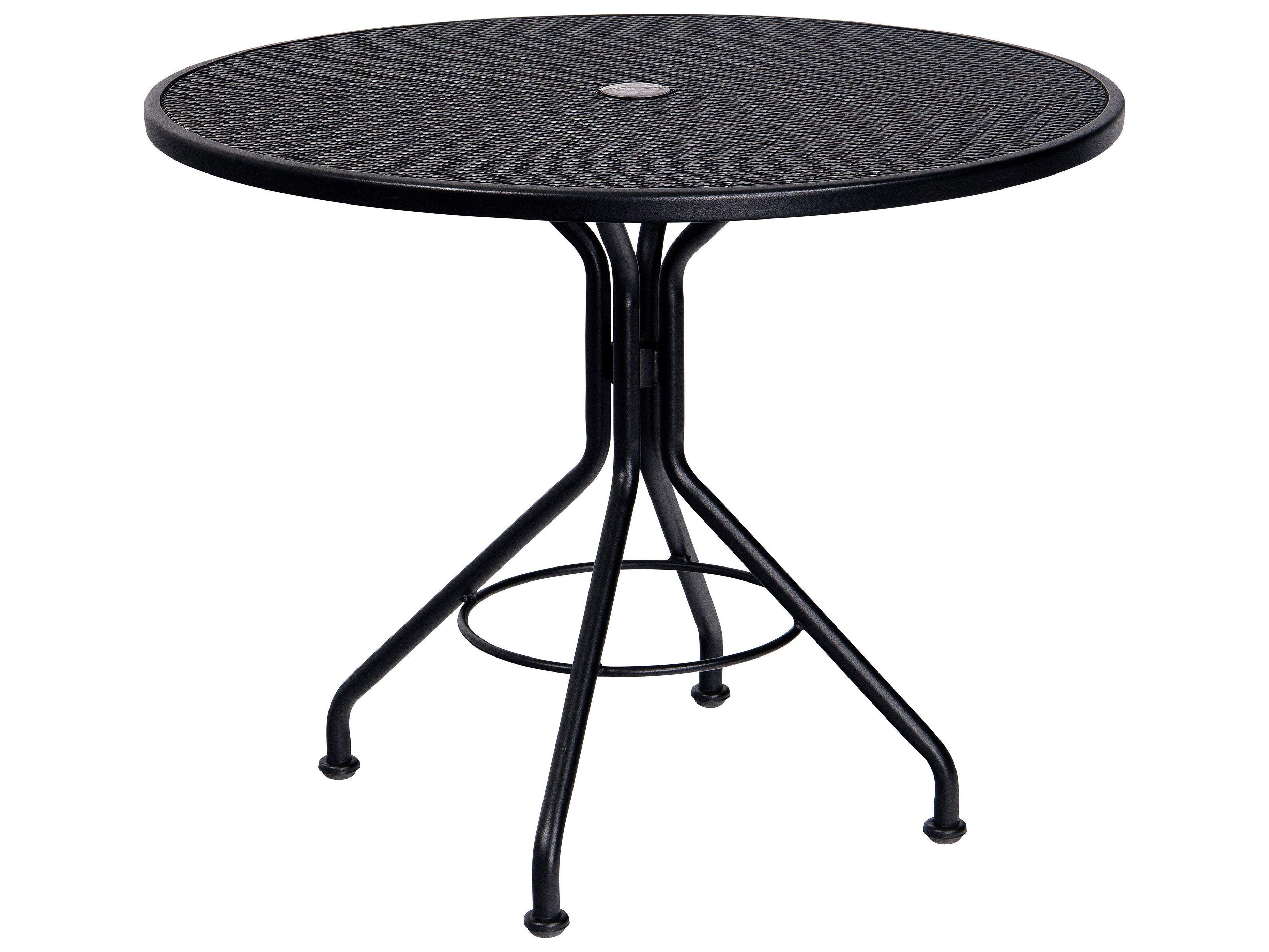 Woodard Mesh Wrought Iron 36 Round Bistro Umbrella Table 280135 Artes Em Ferro Ferro [ jpg ]