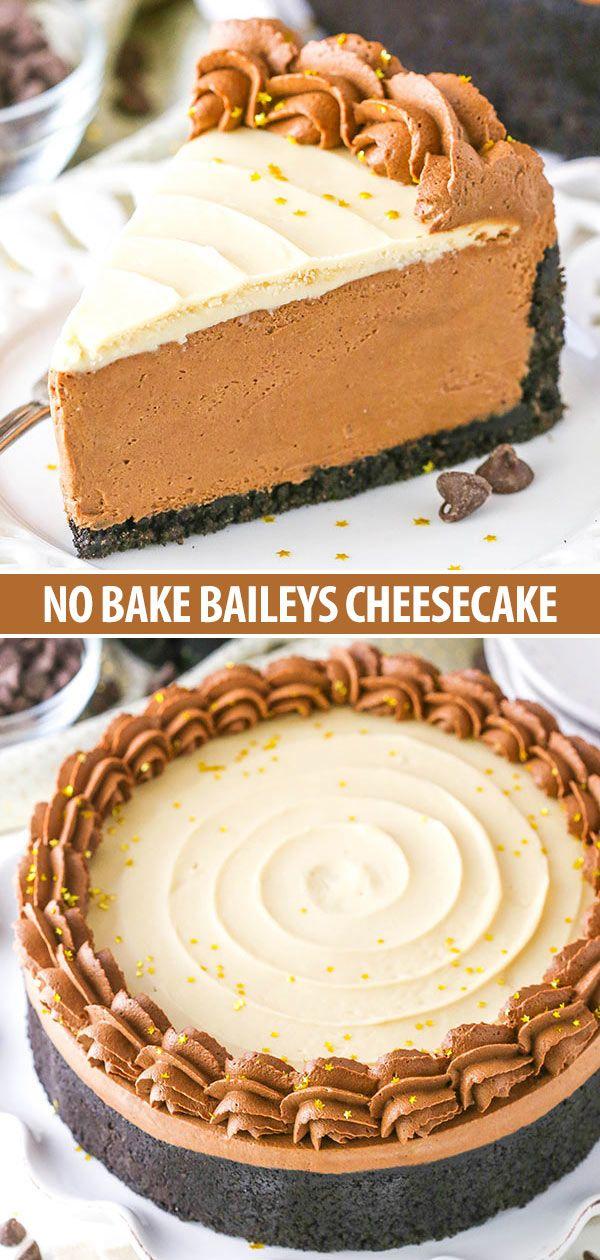 No Bake Baileys Chocolate Cheesecake #collageboard