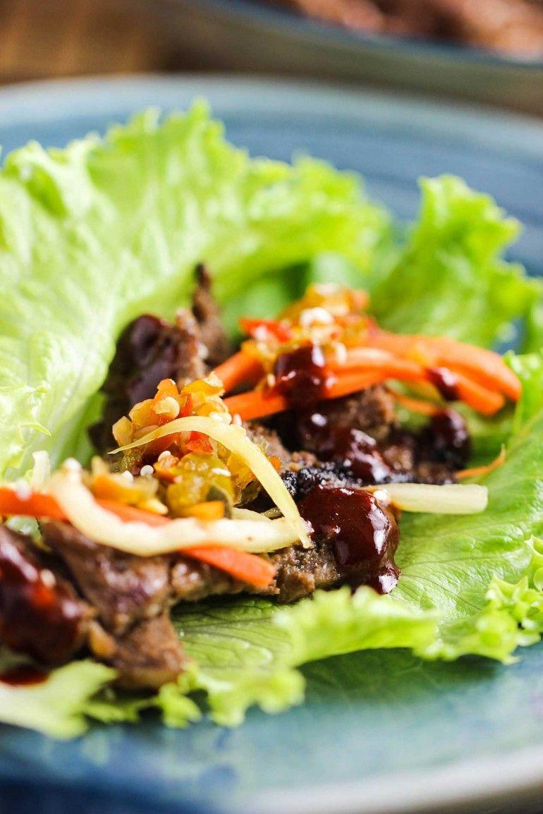 Korean Beef Bulgogi Lettuce Wraps Recipe Lettuce Wraps