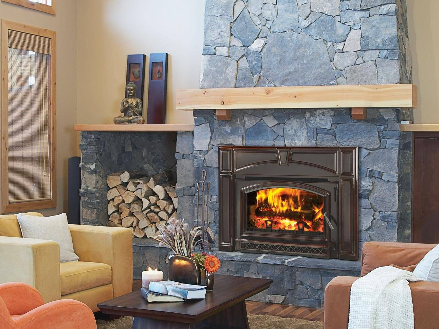 My dream a flush wood burning fireplace insert day stove