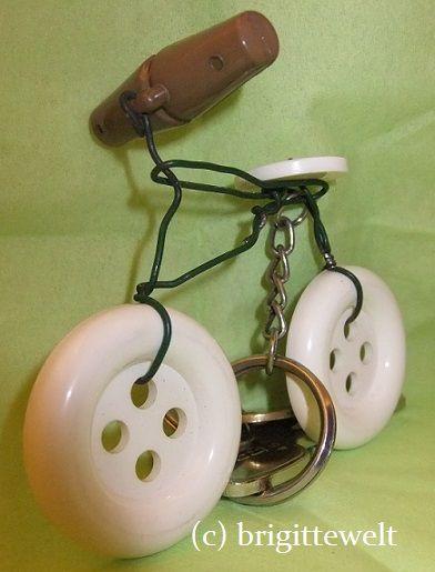 Schlusselanhanger Fahrrad Keyholder Bike Material Gesammelte Knopfe