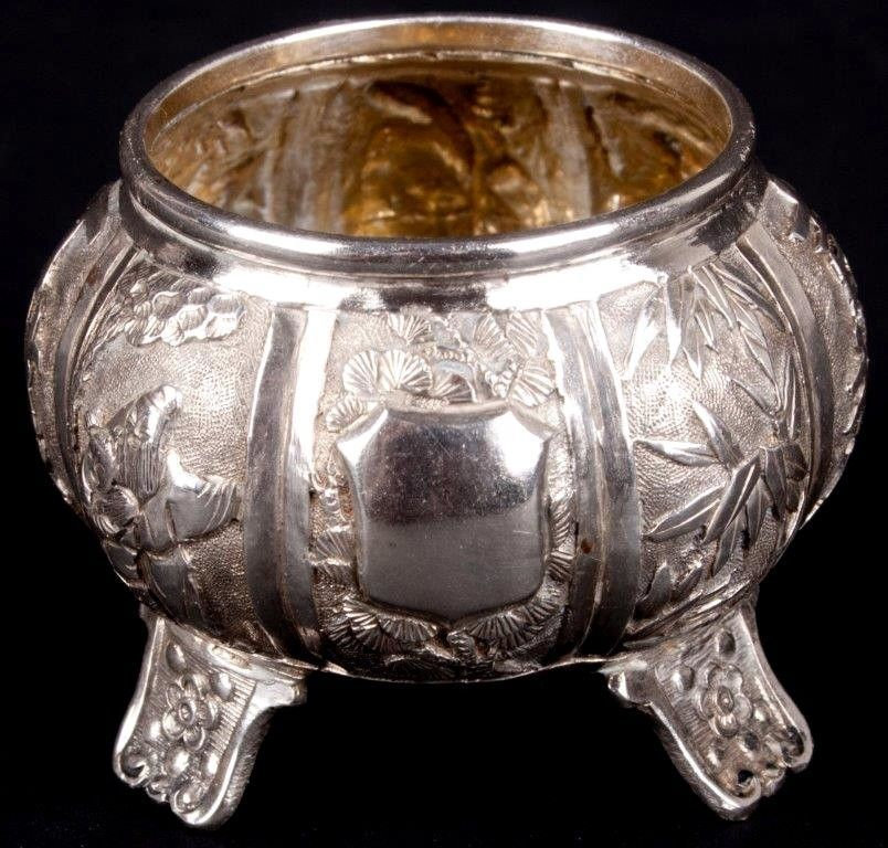 China 20. Jh. Silber Saliere - A Chinese Wang Hing Silver Salt - Cinese Chinois