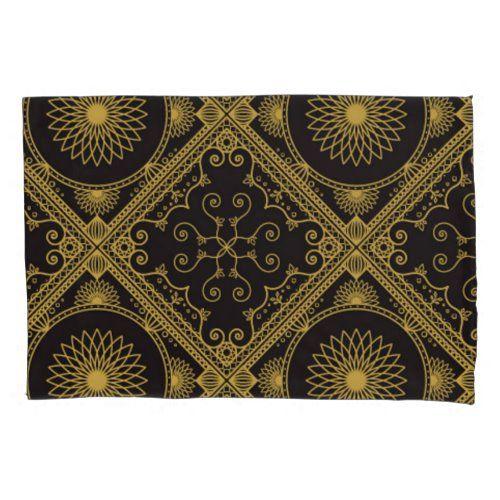 Gold and Black 217 Pillow Case  dorm decorations, apothecary decor, mabon decorations #homedecorsg #homedecorindonesia #homedecorjakarta