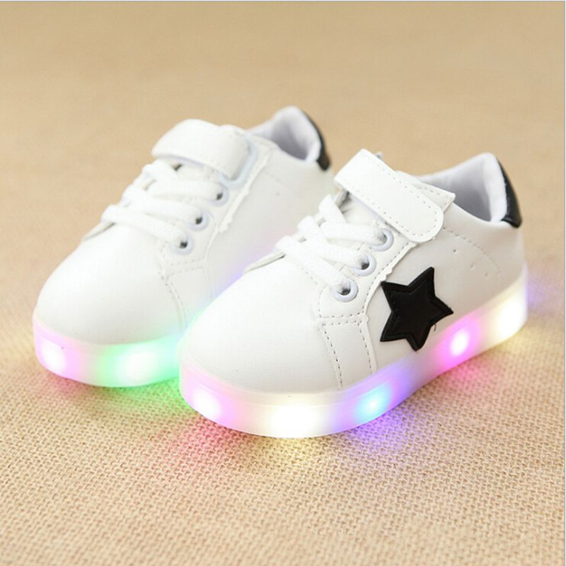 f9627cfea1ee Awesome Children Shoes With Light Baby Boys Girls LED Light Up Shoes Kids  Luminous Sport Shoes Glowing Sneakers Boys Girls Ligthed Shoes -   - Buy it  Now!