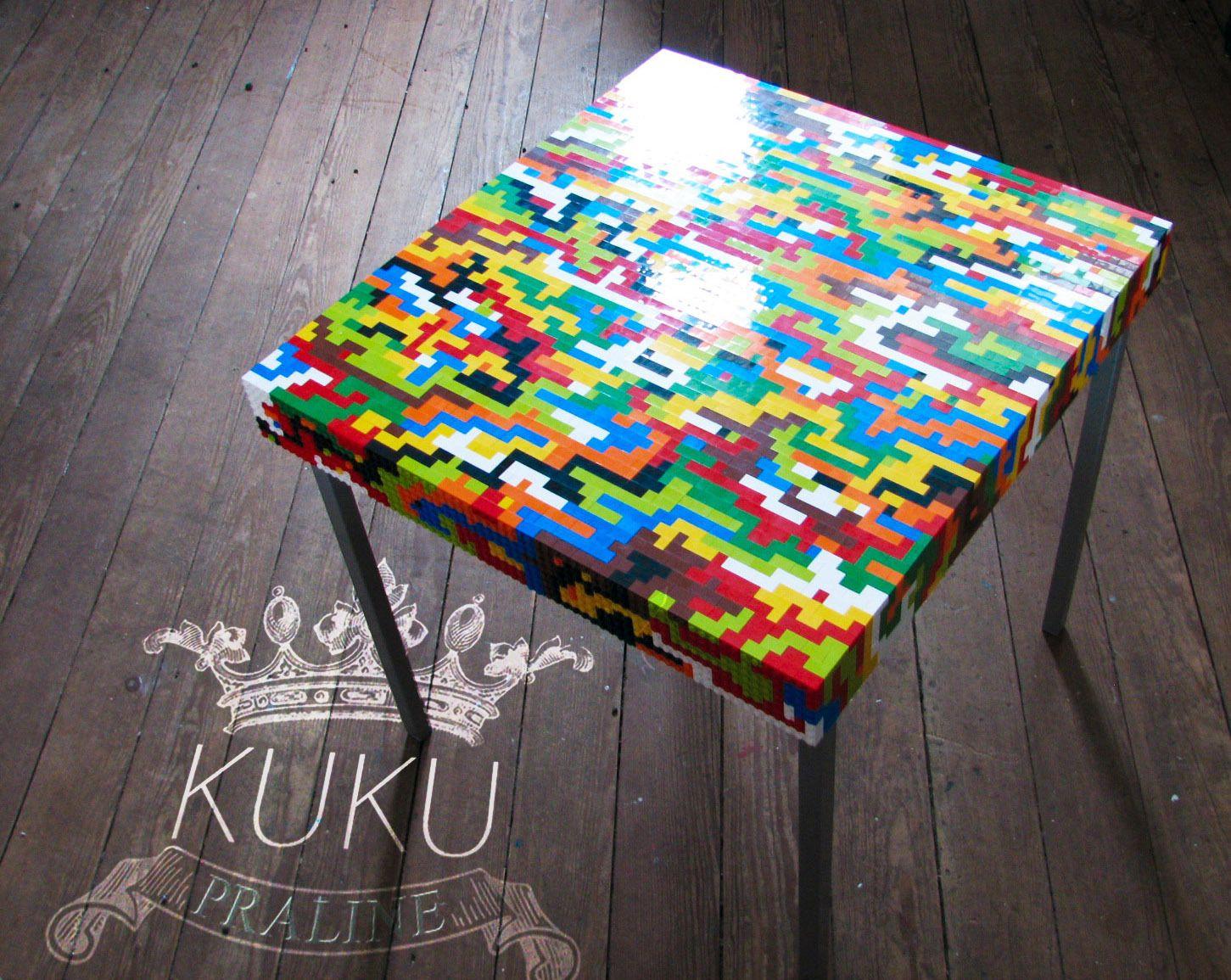 table basse ou d 39 appoint en briques lego anniversaire. Black Bedroom Furniture Sets. Home Design Ideas