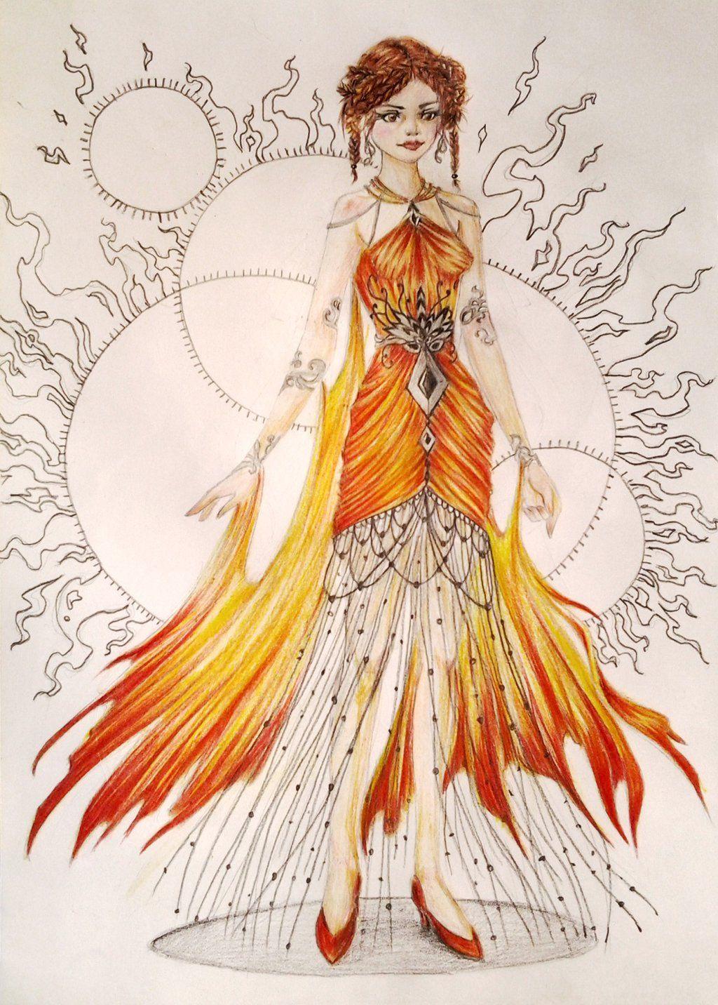 fire dress Google Search Fire costume, Queen halloween