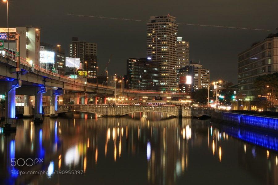 Popular on 500px : NAKANOSHIMA Night View  Osaka by gozo_cedars