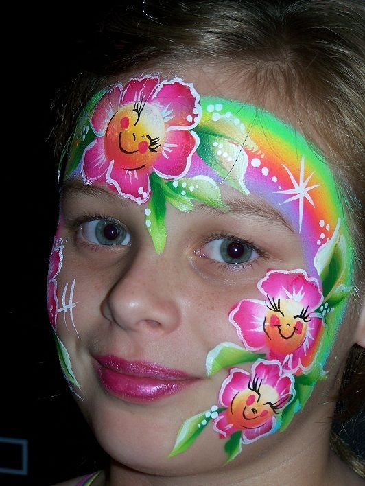 cute flowers face painting ideas for kids by kathy | що ...