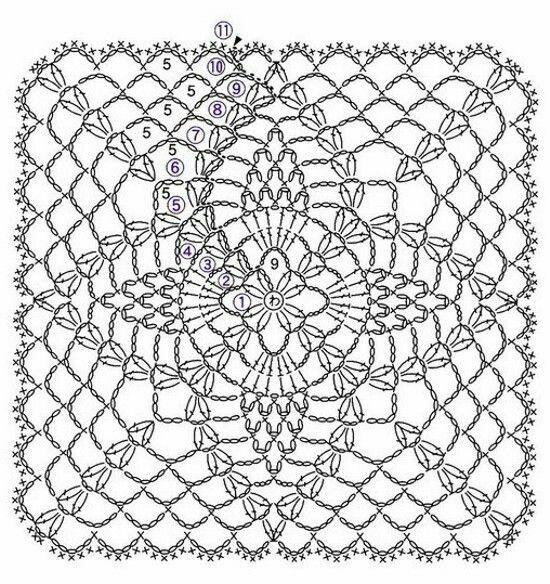 Pin de Lola Troya en carpetas en crochet desihuales   Pinterest ...