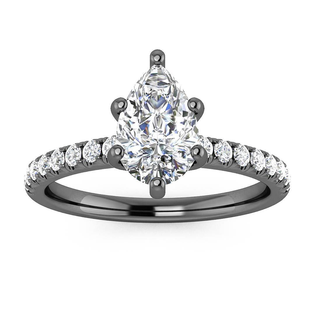 Pop Perfect Ring Diamontrigue Jewelry: Perfect Way To Make The Pear Shaped Diamond Pop