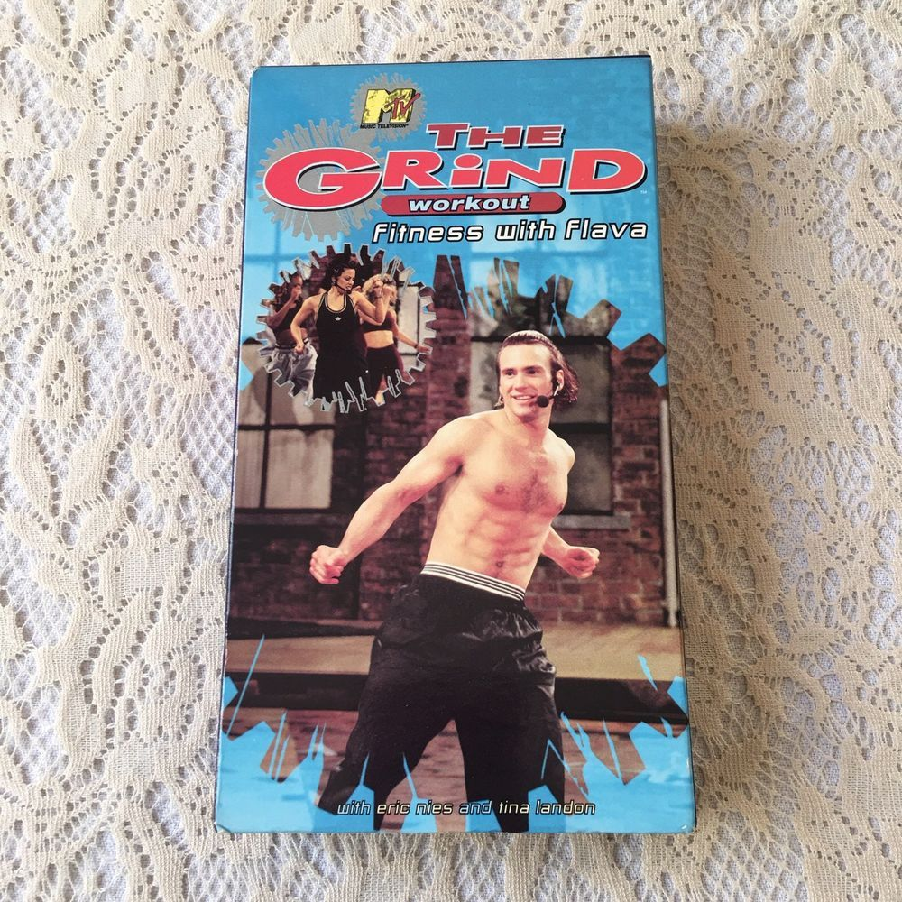 Mtvs The Grind Workout Fitness With Flava Dance Moves Aerobic Yoga Vhs 1995 Workout Fitness Eric Nies