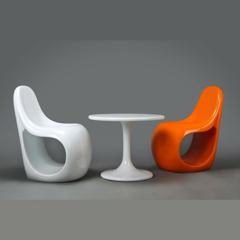 Orange Chair Salon Covers For High Back Dining Chairs These Are The Same They Have In Leaf Super Cool Contemporary Great Colors And Hold Up Really Well