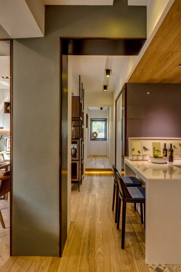A 40 Year Old Apartment In Taipei Gets A Modern Intervention Old Apartments Luxury Apartments Interior Apartment Renovation
