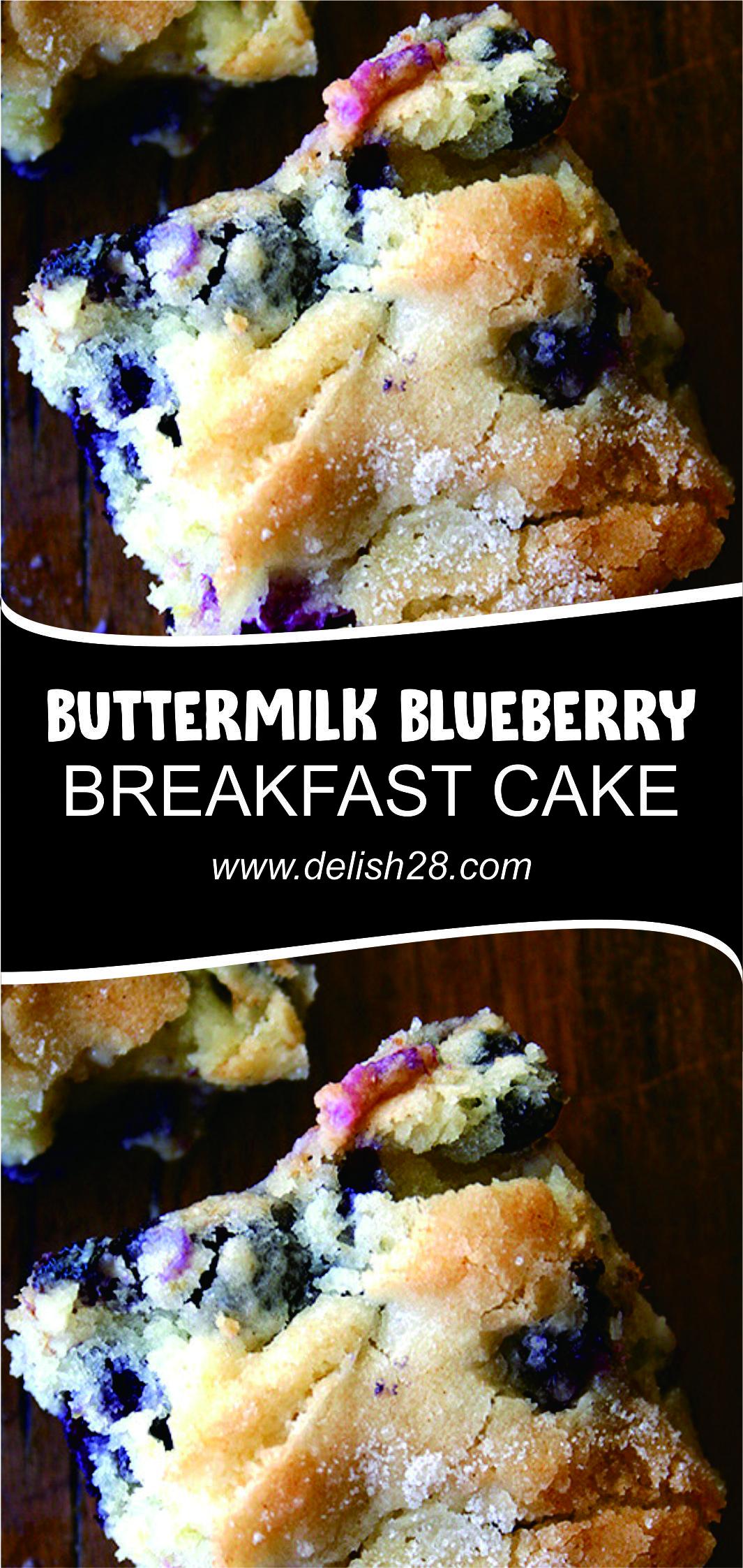Buttermilk Blueberry Breakfast Cake