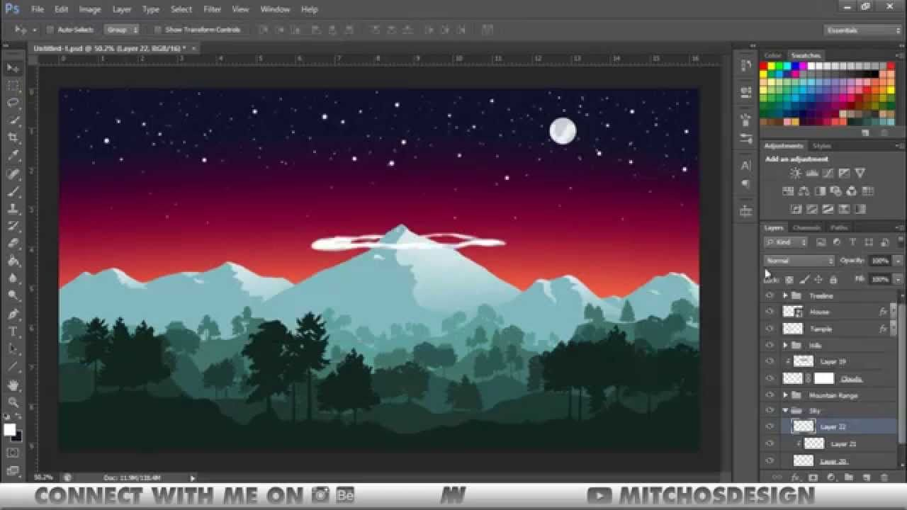 Nepal Flat Landscape Speed Art Photoshop Illustrator By Mitch0s Photoshop Landscape Photoshop Tutorial Landscape Speed Art,John F Kennedy Junior Young