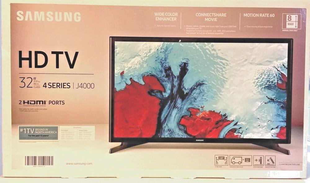 Samsung 32 Class Led J4000 Series 720p Hdtv 720p Hd Resolution Motion Rate 60 Vertical Resolution 720p Hd Samsung Un32j40 Led Tv Samsung Led
