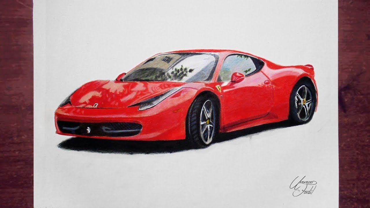 Drawing Cars 2 Ferrari Prismacolor Pencils With Images Car