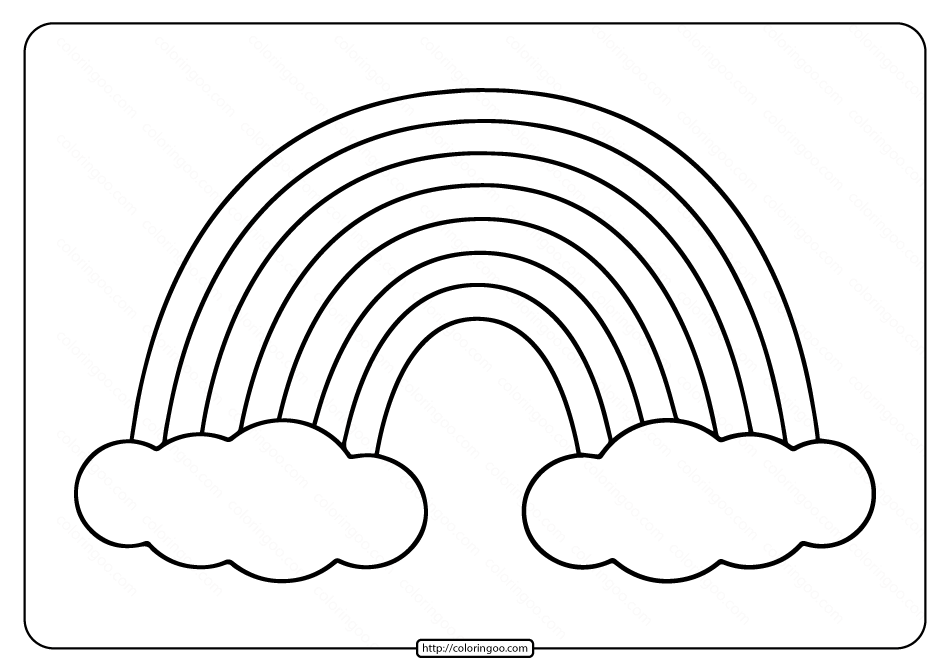 Printable Rainbow Coloring Page For Kids Coloring Pages For Kids Coloring Pages Coloring Books